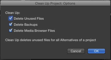 Delete all your unused files with the